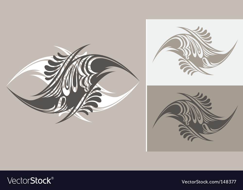 Tattoo styled abstract designs vector | Price: 1 Credit (USD $1)