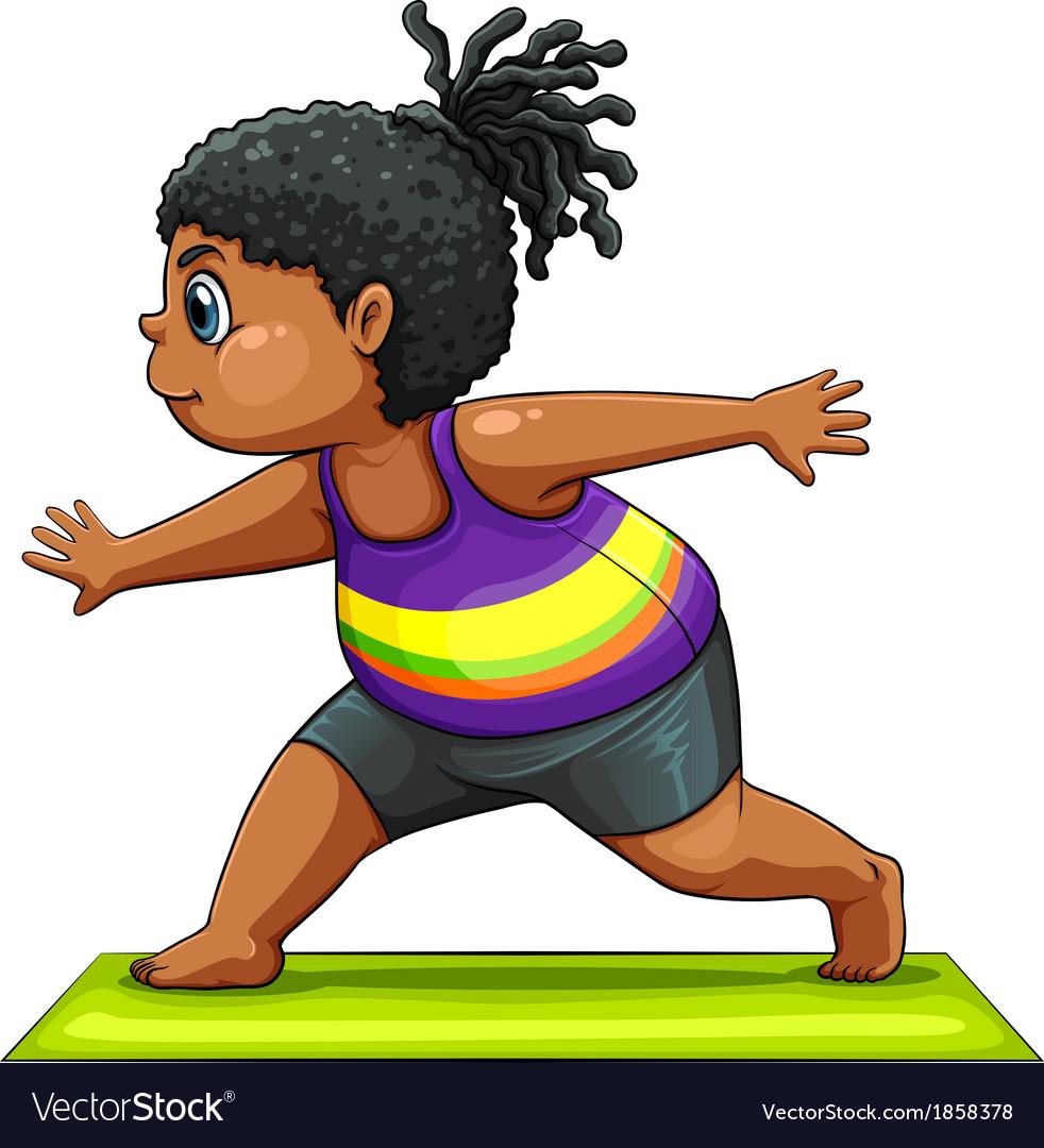 A girl doing yoga vector | Price: 1 Credit (USD $1)