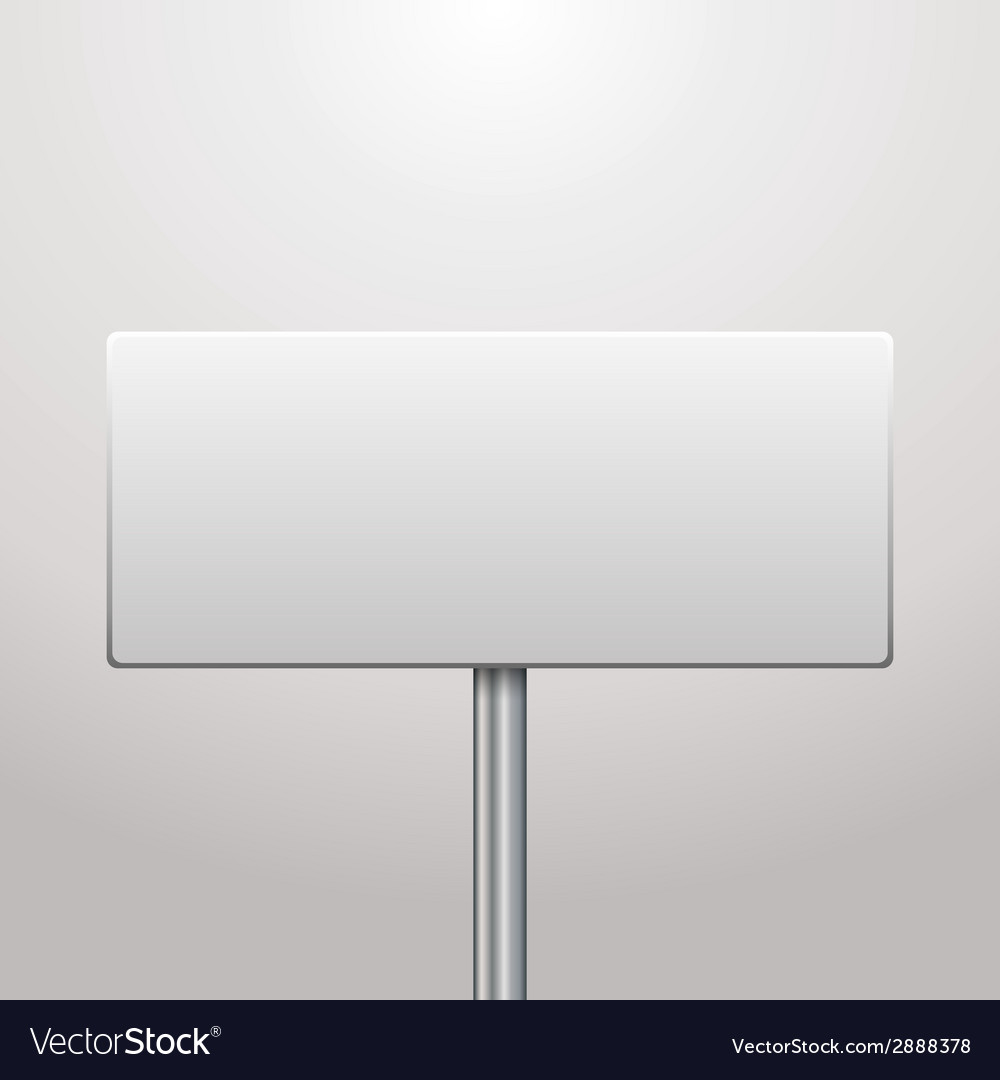 Blank signboard vector | Price: 1 Credit (USD $1)