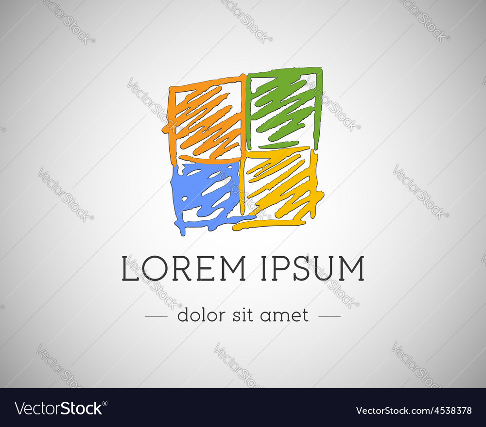 Business technology abstract logo template for vector | Price: 1 Credit (USD $1)