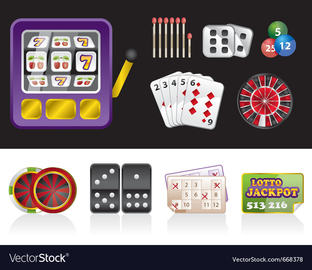 Casino and gambling tools icons vector | Price: 1 Credit (USD $1)