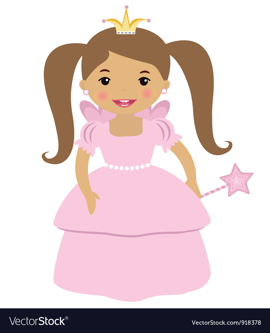 Cute princess vector | Price: 1 Credit (USD $1)