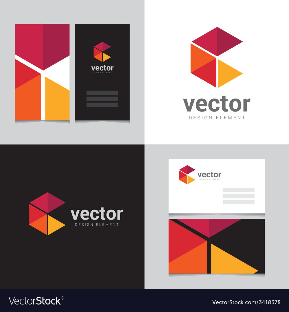 Logo design element with two business cards - 17 vector | Price: 1 Credit (USD $1)