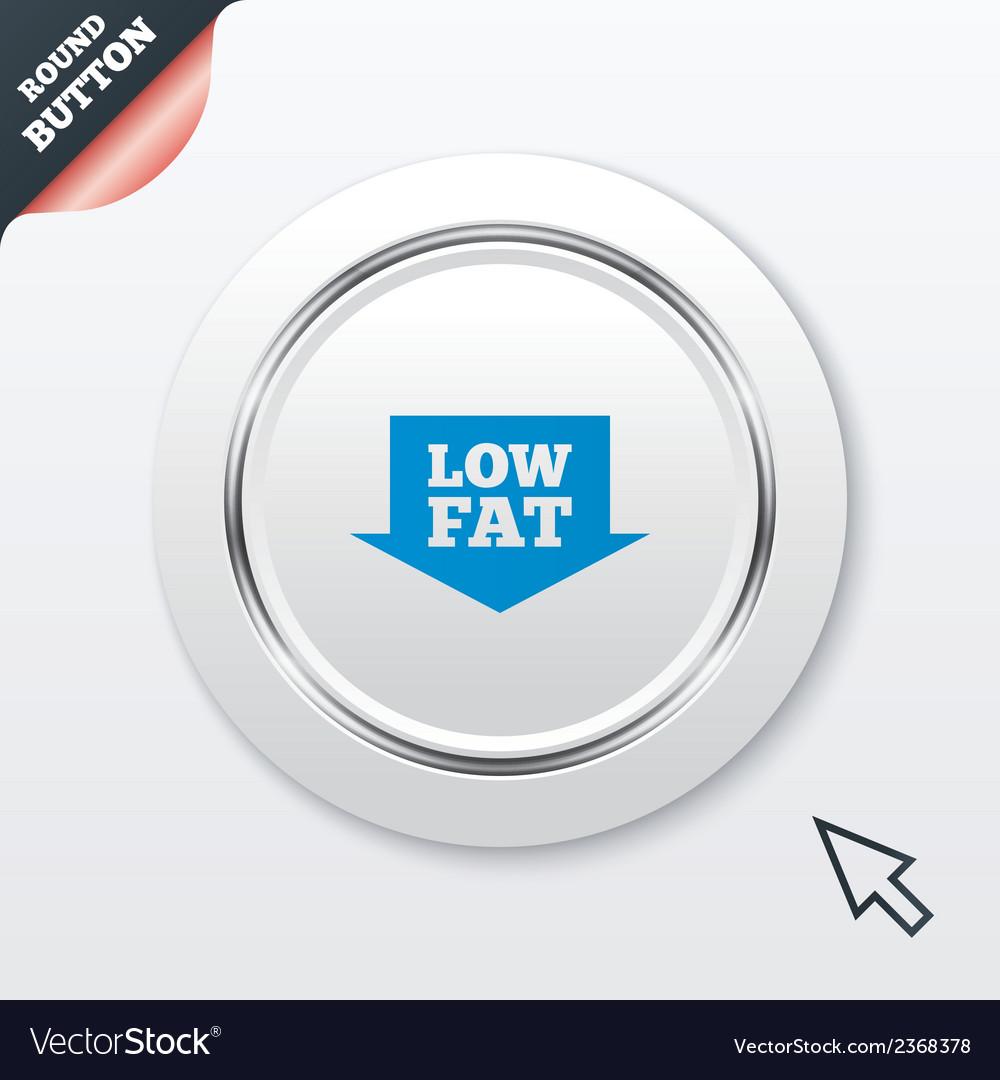 Low fat sign icon salt sugar food symbol vector | Price: 1 Credit (USD $1)