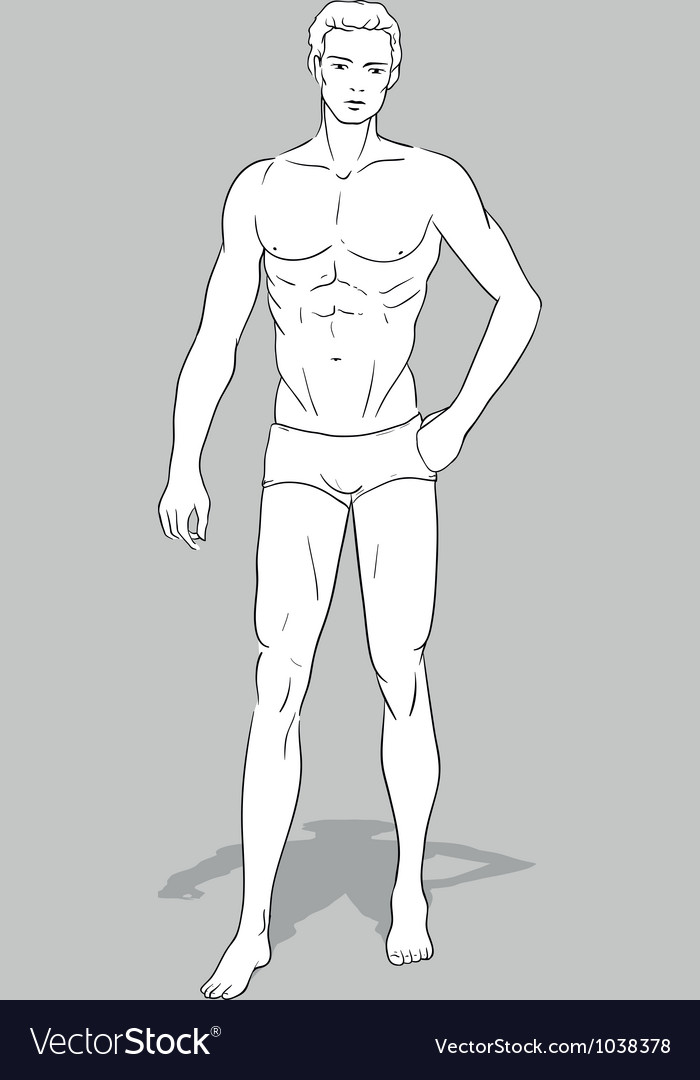 Male fashion figurine vector | Price: 1 Credit (USD $1)
