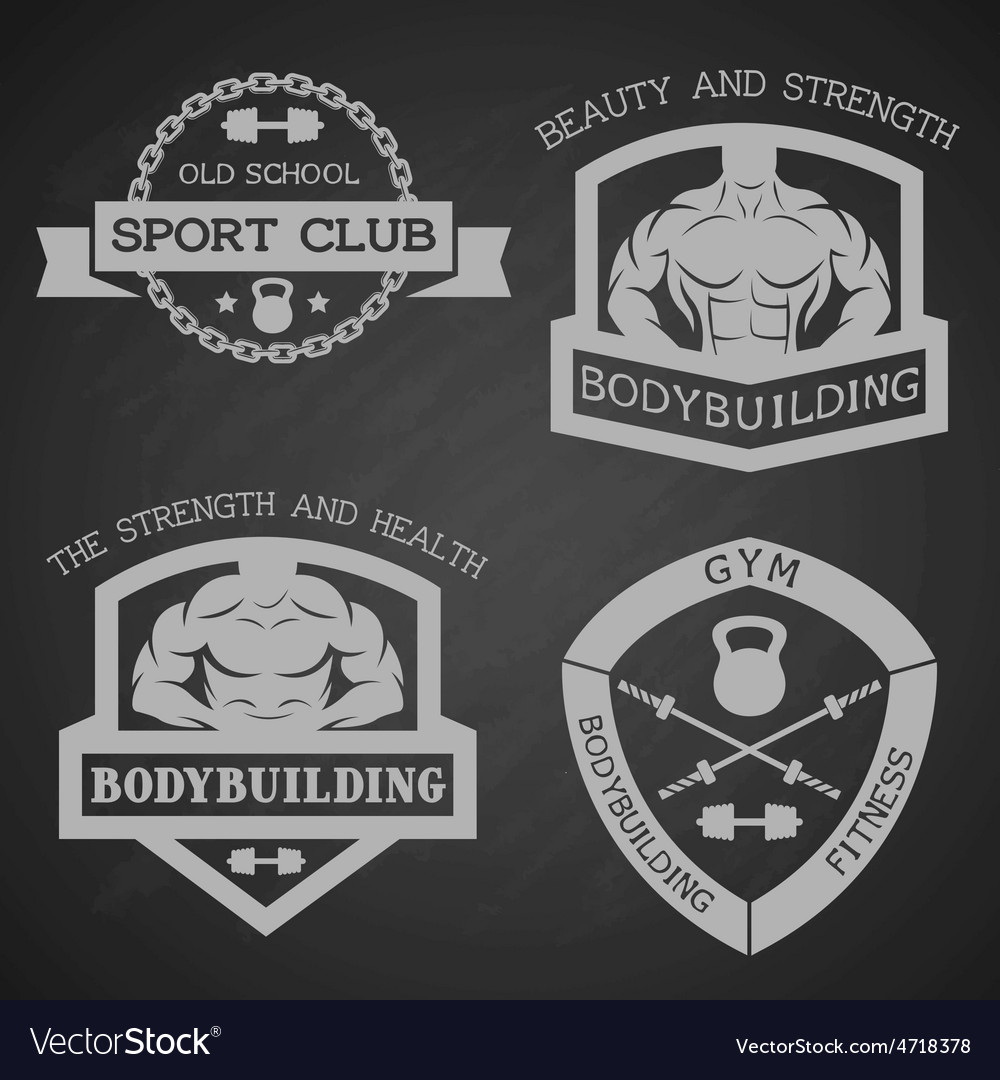 Set of emblem bodybuilding and fitness vector | Price: 1 Credit (USD $1)