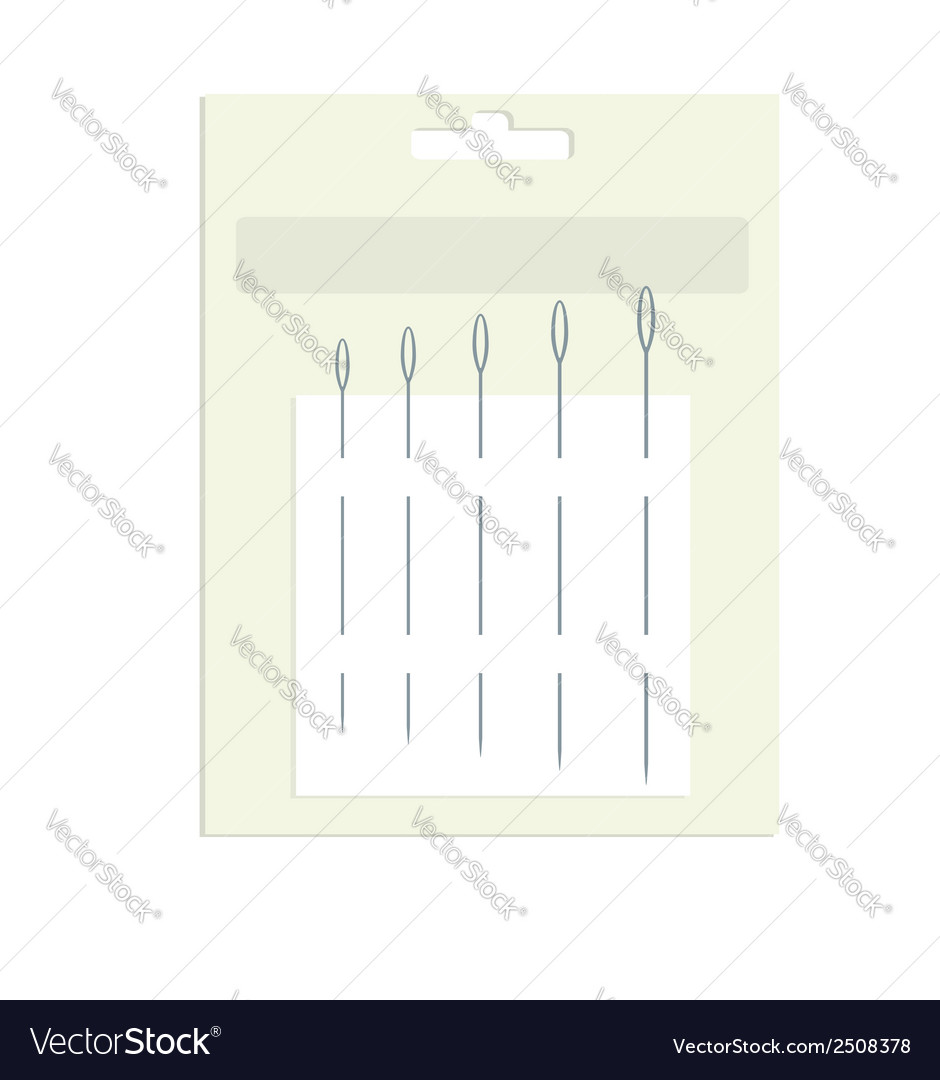 Sewing needles in product packaging vector | Price: 1 Credit (USD $1)