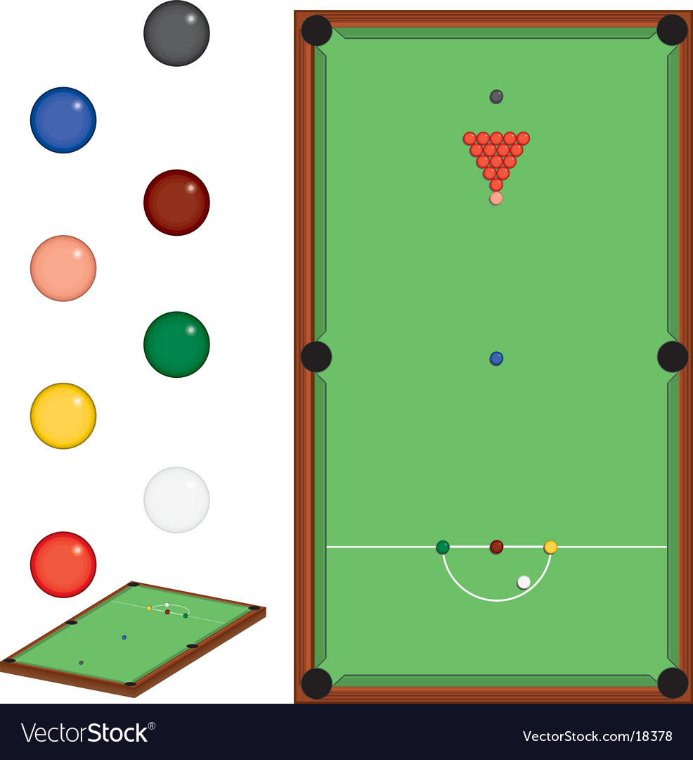Snooker set vector | Price: 1 Credit (USD $1)