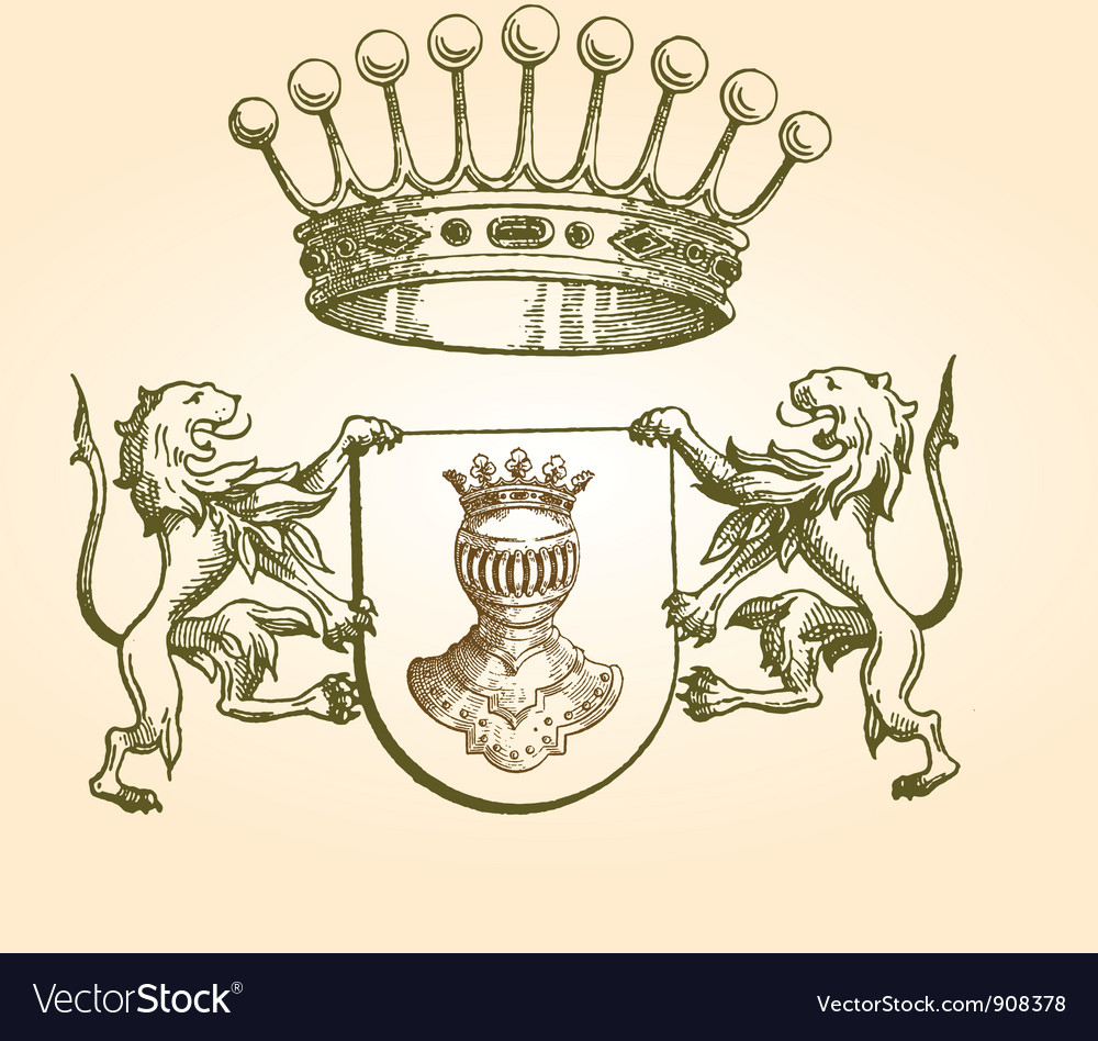 Vintage coat of arms vector | Price: 1 Credit (USD $1)