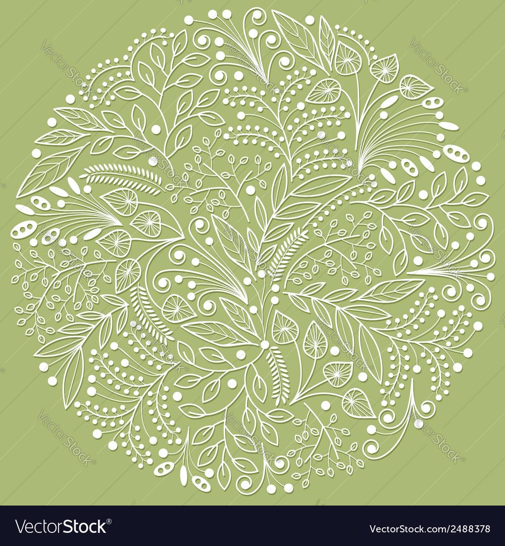 White decorative floral composition vector | Price: 1 Credit (USD $1)