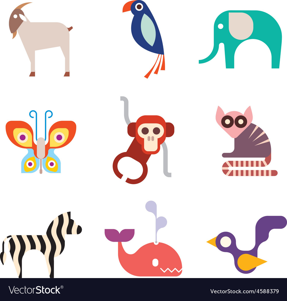 Animal icons 10 vector | Price: 1 Credit (USD $1)