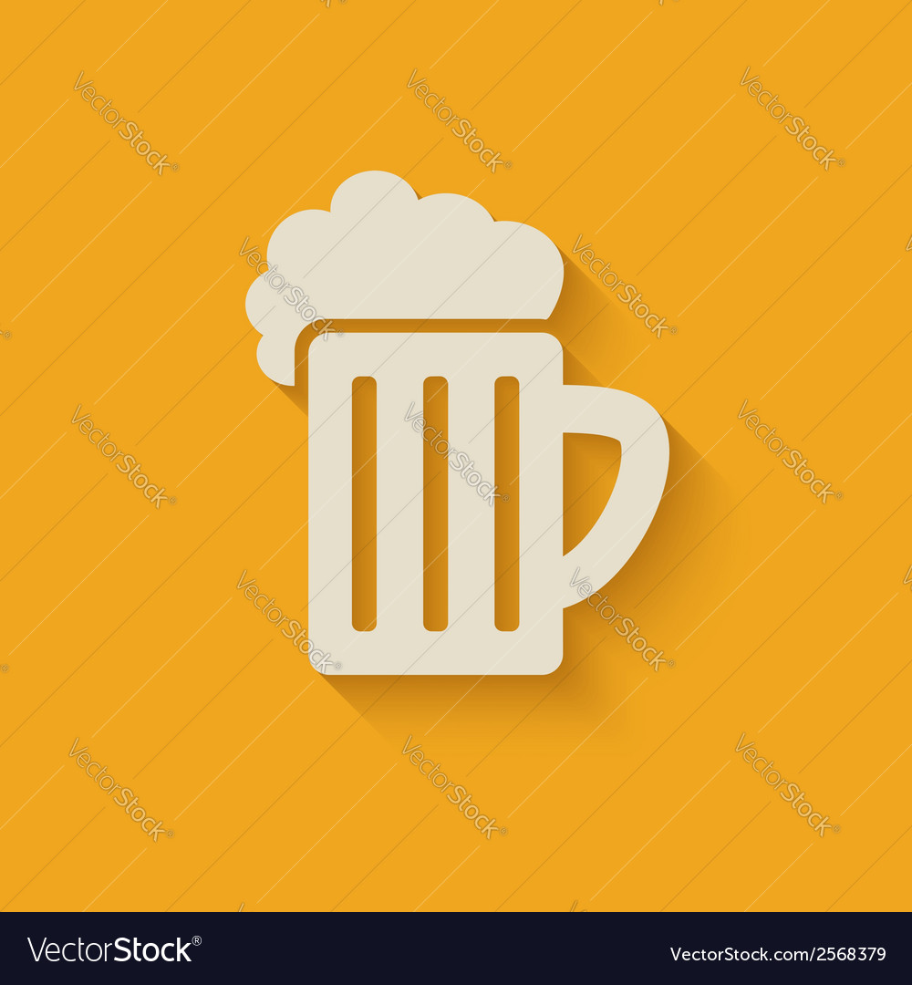 Beer mug design element vector | Price: 1 Credit (USD $1)
