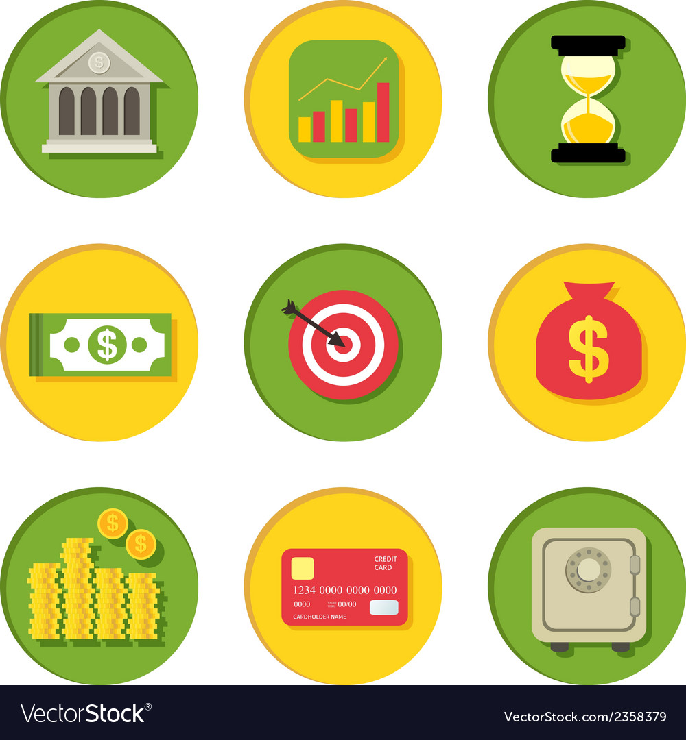 Financial icons set vector | Price: 1 Credit (USD $1)