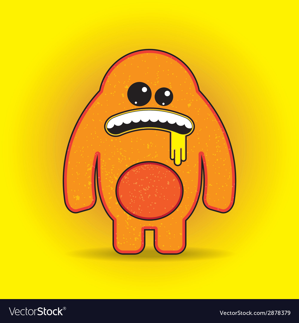 Fun monster character template for design t-shirts vector | Price: 1 Credit (USD $1)