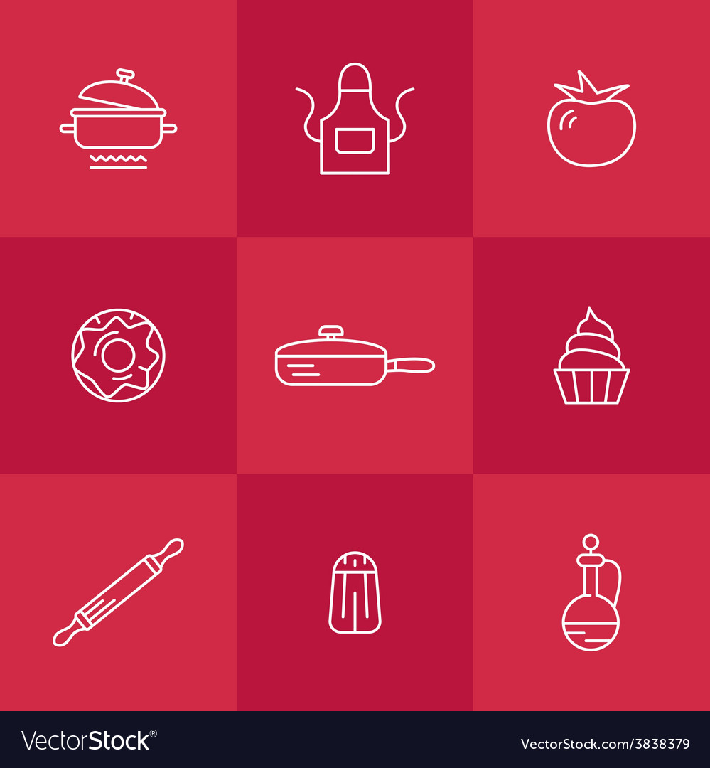 Icons kitchen vector | Price: 1 Credit (USD $1)