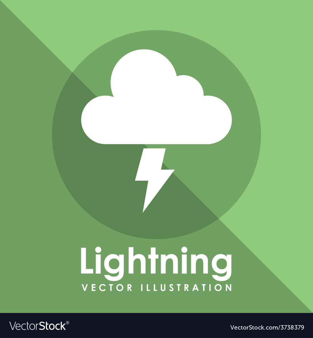 Lightning icon design vector | Price: 1 Credit (USD $1)