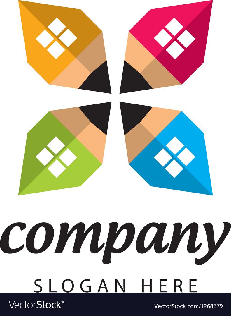 Logo construction company vector | Price: 1 Credit (USD $1)