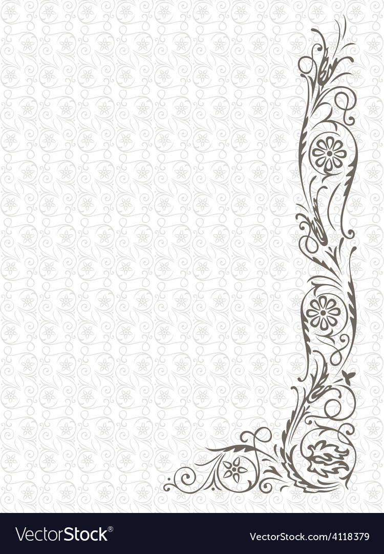 Ornament on a seamless background vector | Price: 1 Credit (USD $1)