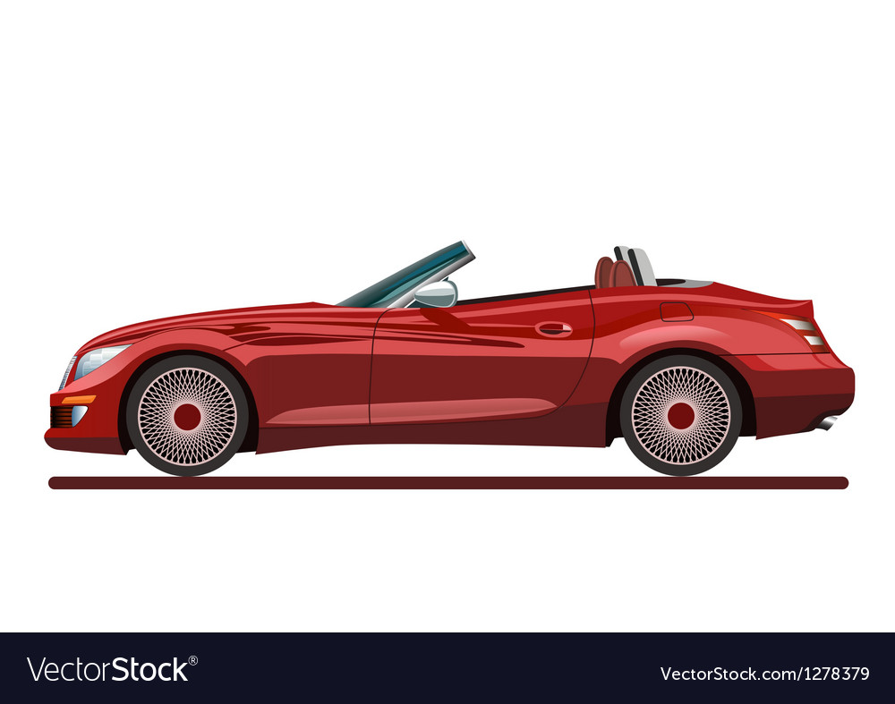 Red beautiful sport car vector | Price: 1 Credit (USD $1)