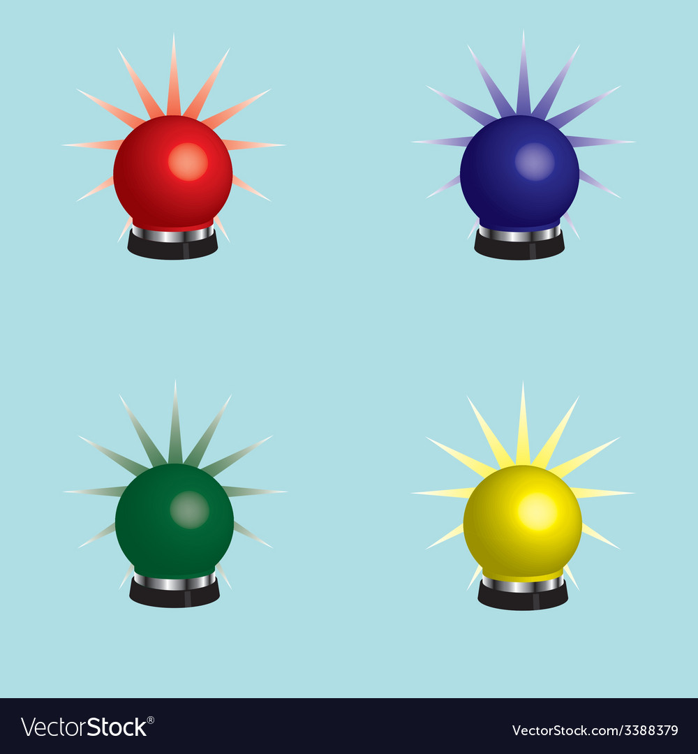 Rotating beacons vector | Price: 1 Credit (USD $1)