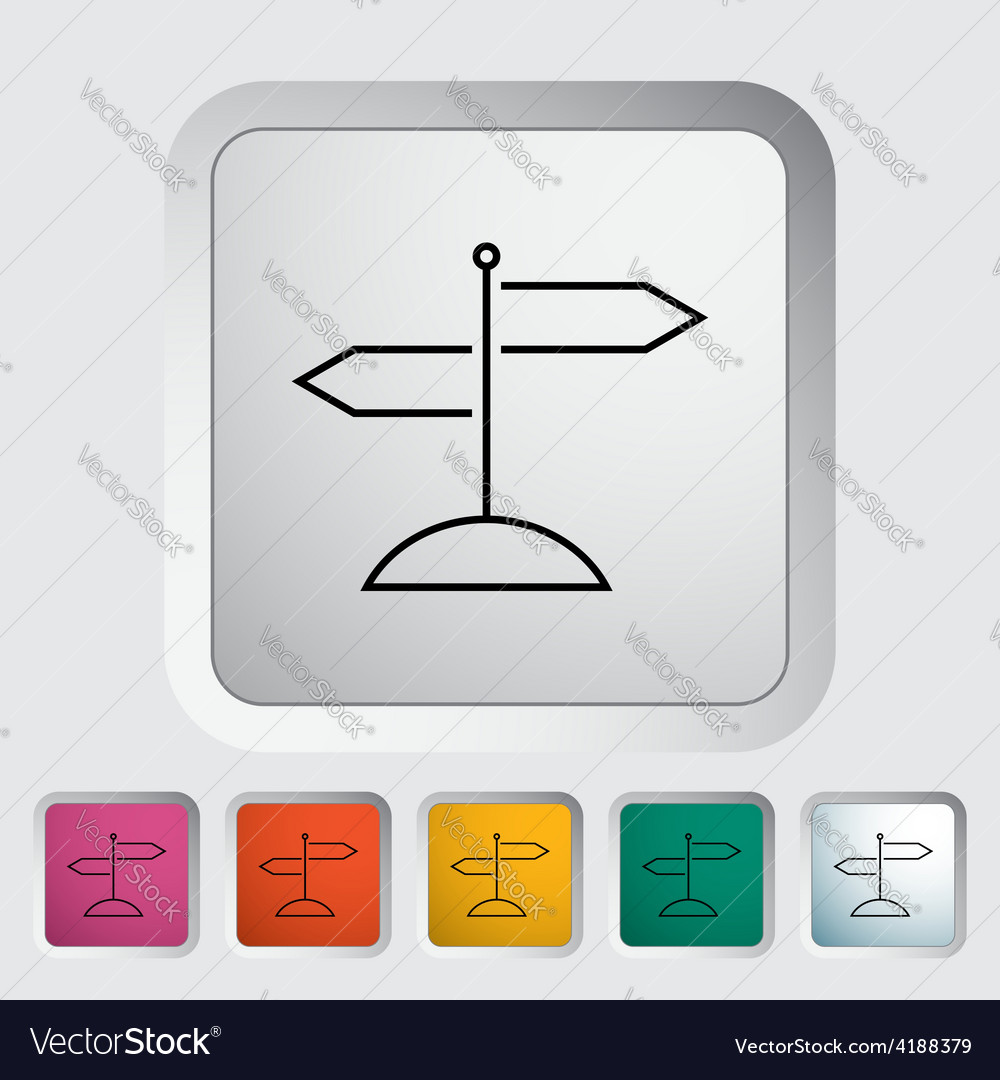 Signpost vector | Price: 1 Credit (USD $1)