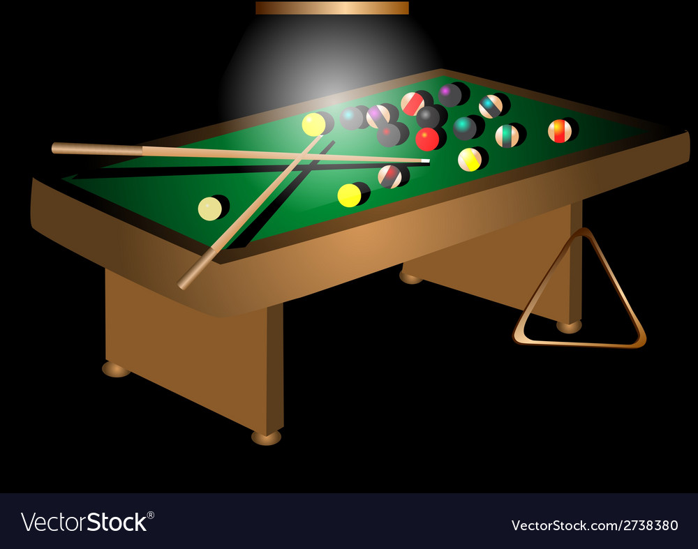 Billiards table and balls vector | Price: 1 Credit (USD $1)