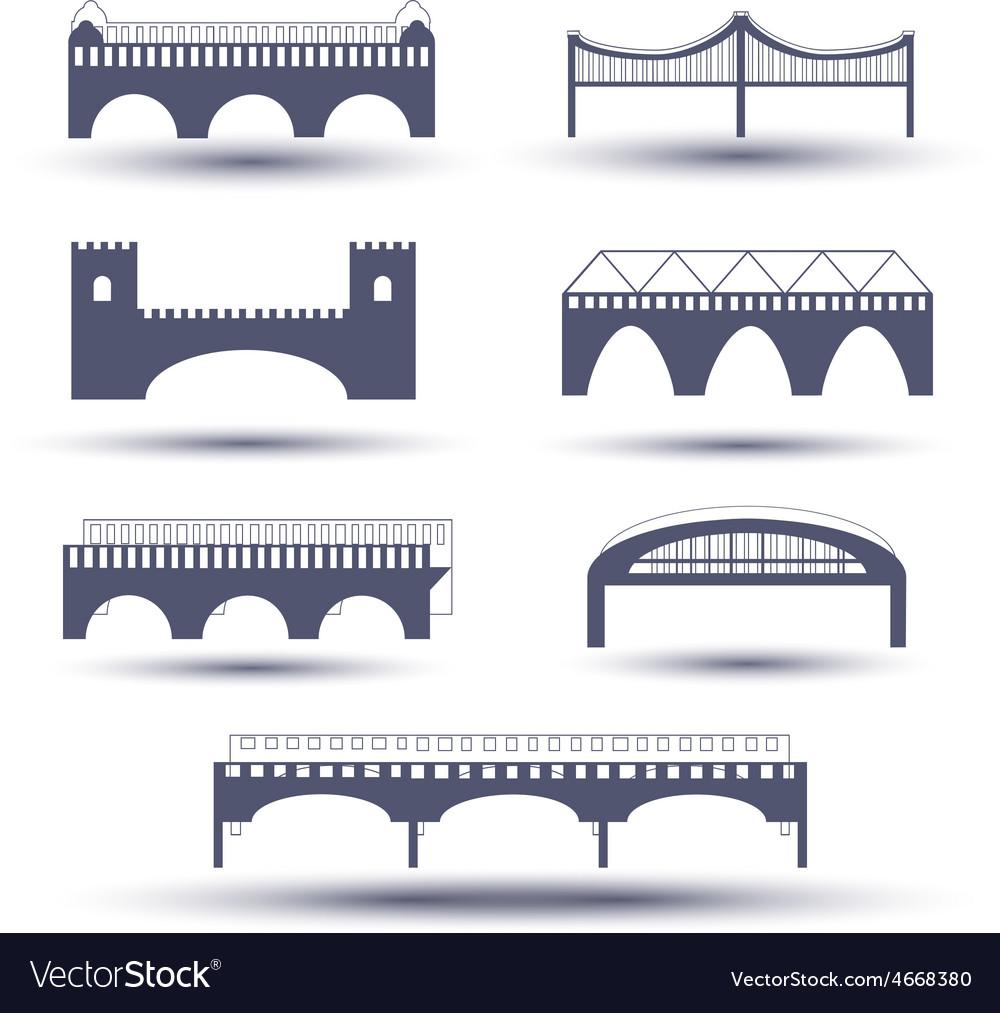 Bridge icon set vector   Price: 1 Credit (USD $1)