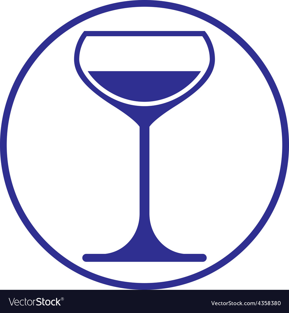 Classic champagne glass alcohol beverage theme vector | Price: 1 Credit (USD $1)