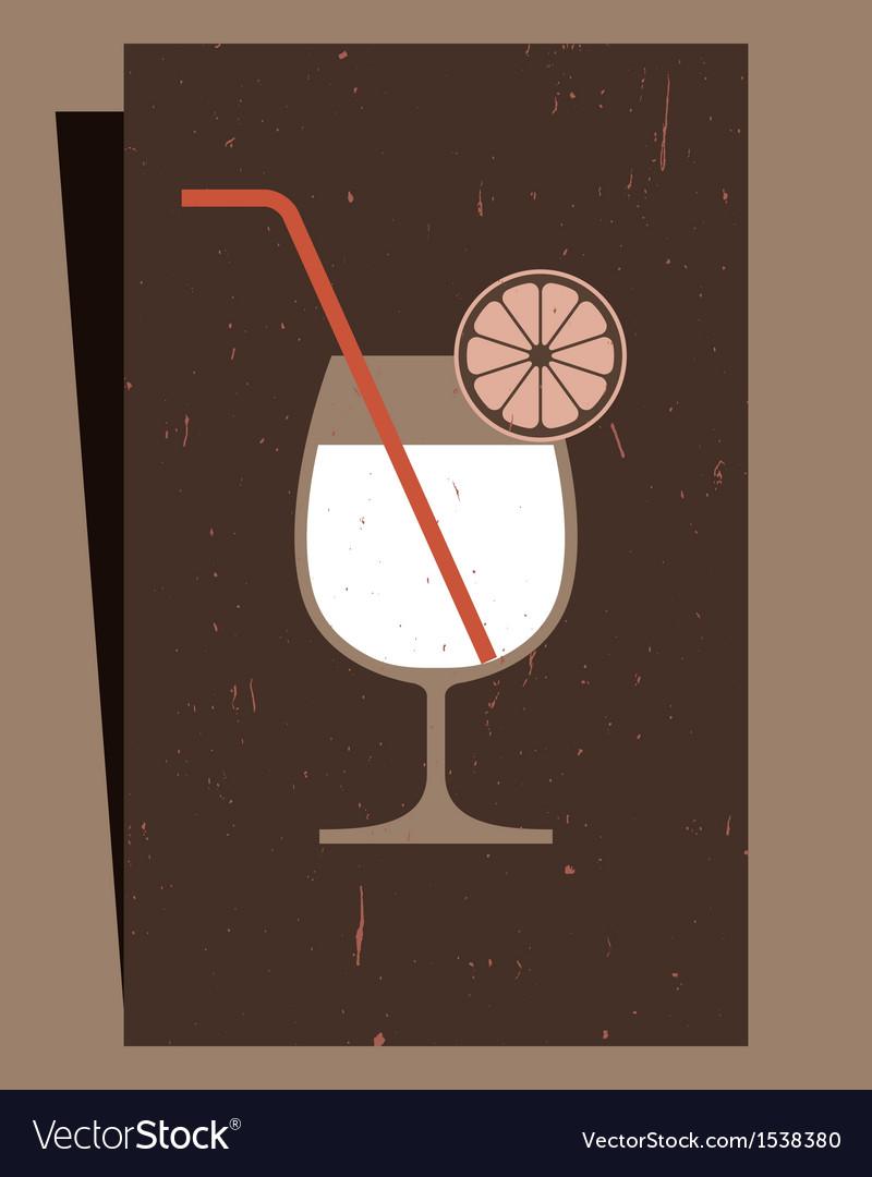 Cocktails menu card design vector | Price: 1 Credit (USD $1)