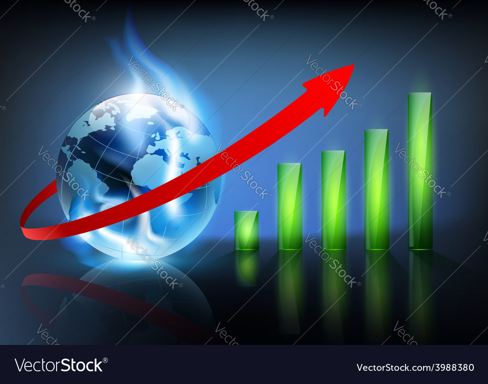 Financial charts and planet earth with a blue vector   Price: 1 Credit (USD $1)