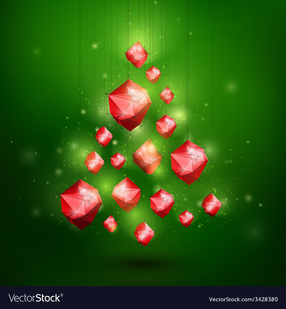 Merry christmass and happy new year abstract vector | Price: 1 Credit (USD $1)