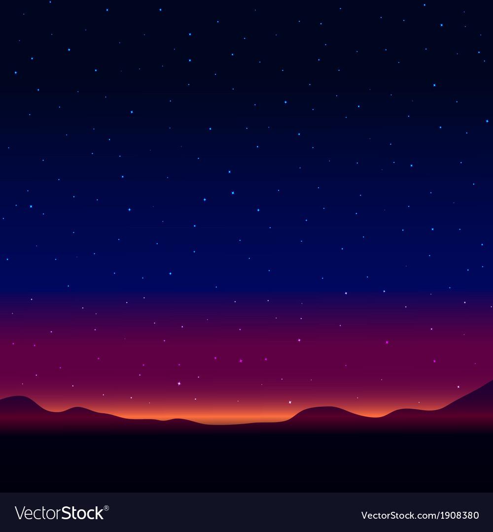 Night landscape vector | Price: 1 Credit (USD $1)