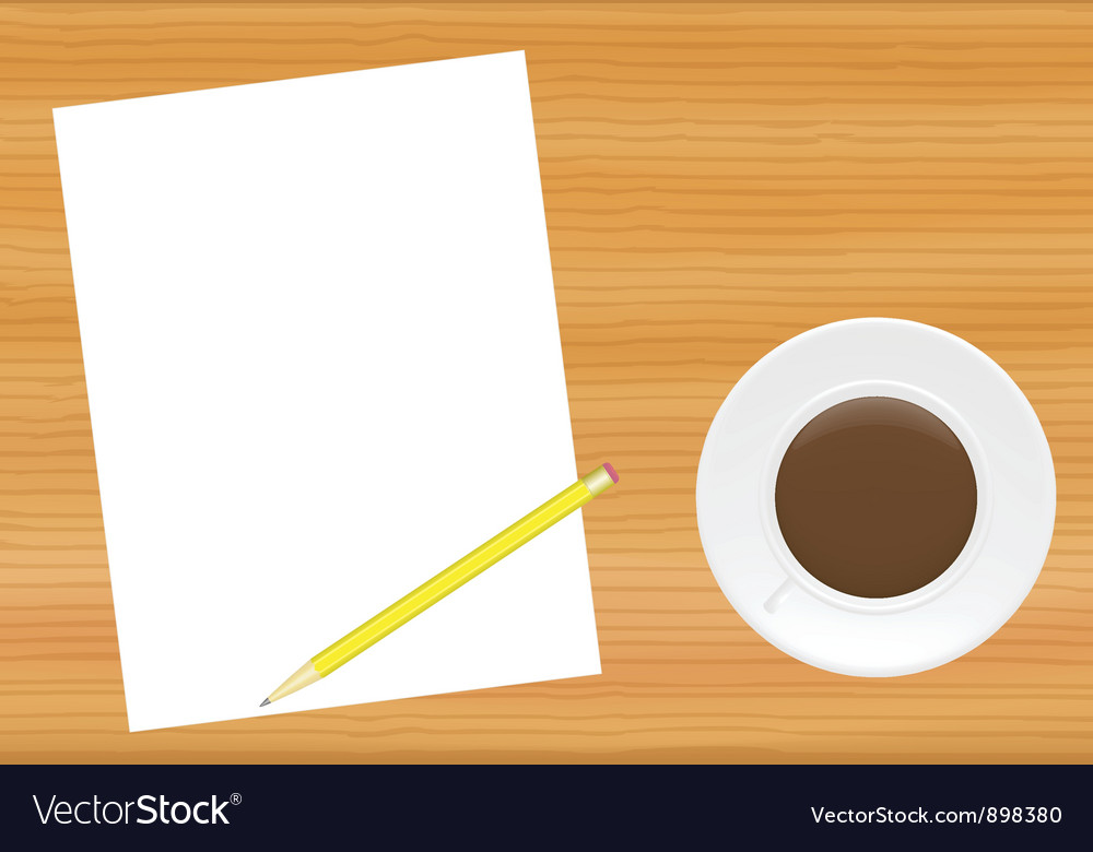 Paper page on office table vector | Price: 1 Credit (USD $1)