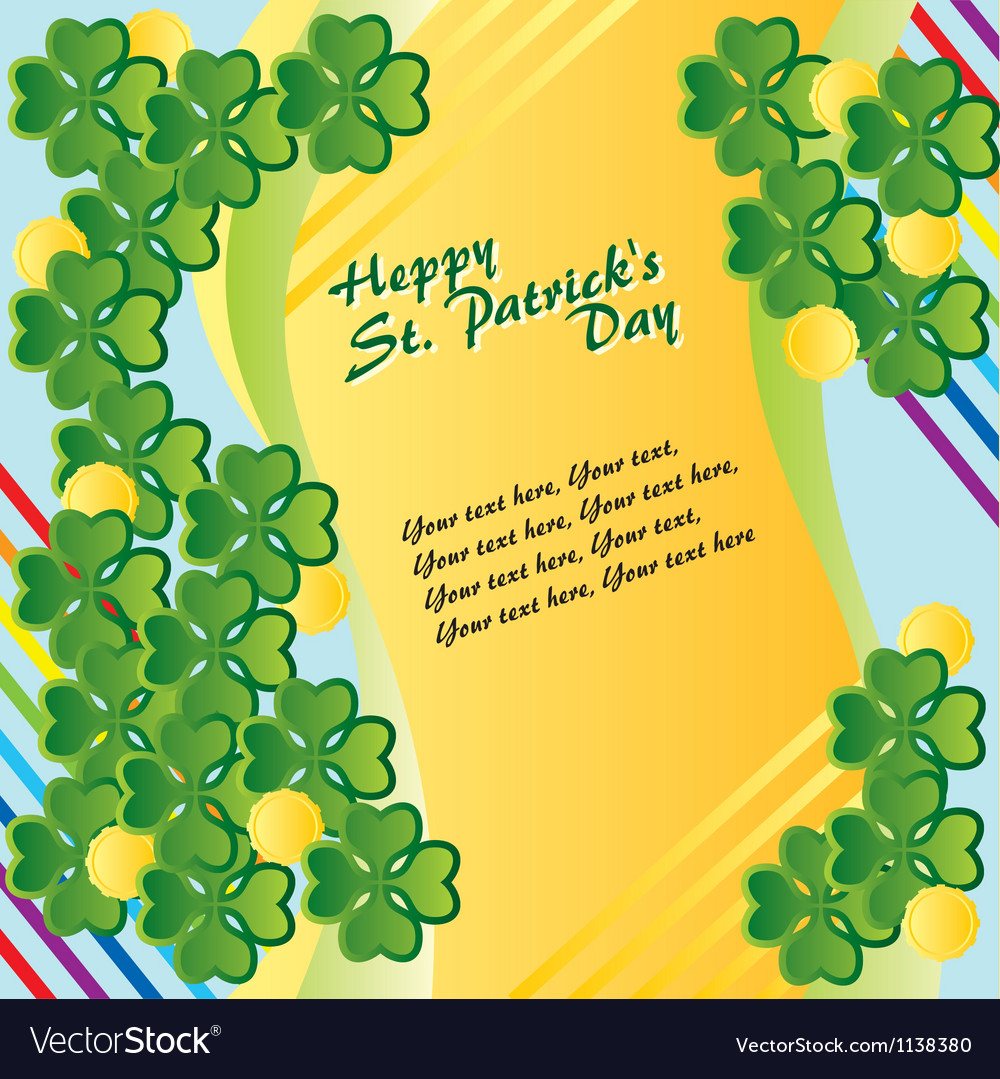 Patricks day vector | Price: 1 Credit (USD $1)