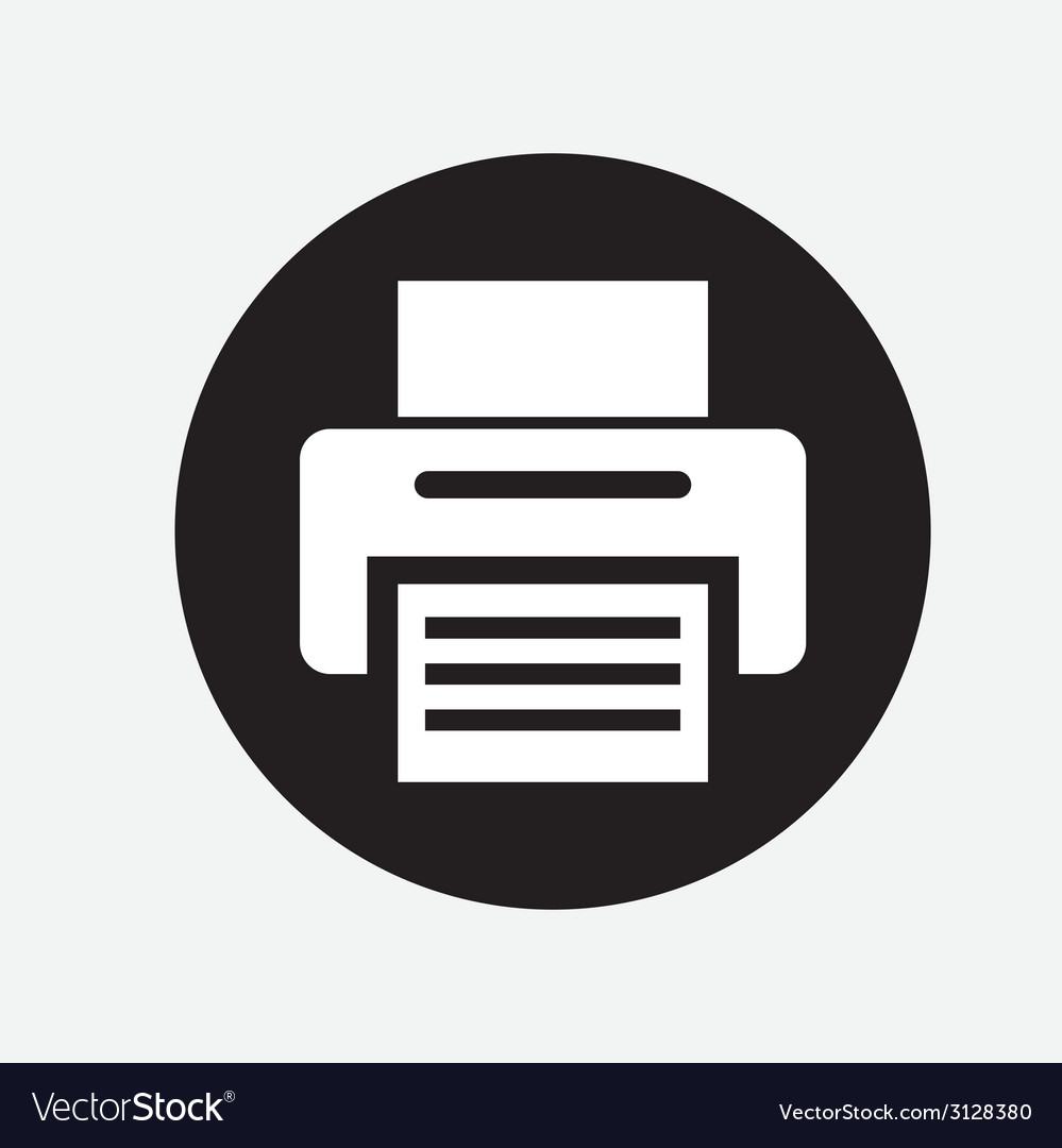 Printer design vector | Price: 1 Credit (USD $1)
