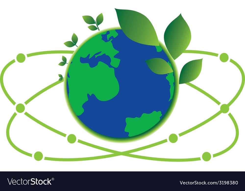 Science green world vector | Price: 1 Credit (USD $1)