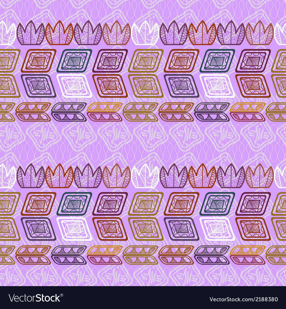 Seamless ethnic purple pattern vector | Price: 1 Credit (USD $1)