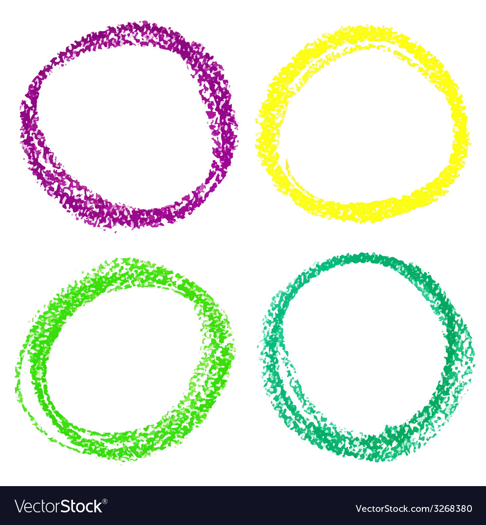 Set of mardi gras circle spots of pastel crayon vector | Price: 1 Credit (USD $1)