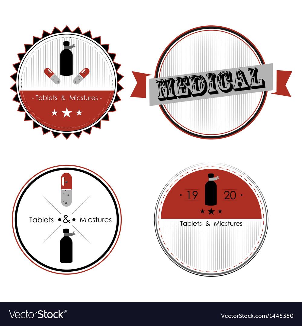 Set of medical shop labels and design elements vector   Price: 1 Credit (USD $1)