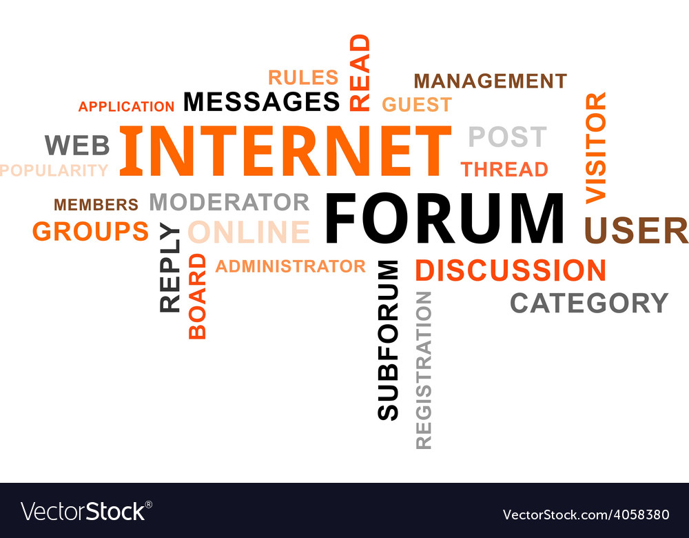 Word cloud internet forum vector | Price: 1 Credit (USD $1)