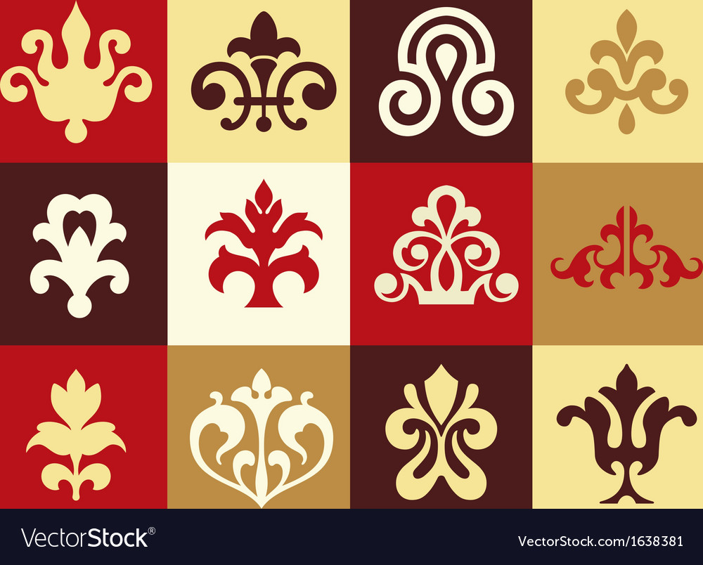 12 decorative elements vector | Price: 1 Credit (USD $1)