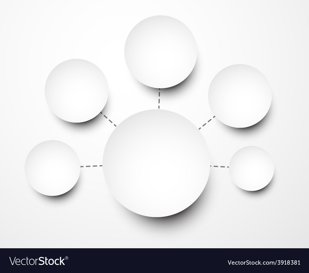 Abstract infographics with paper round notes vector | Price: 1 Credit (USD $1)
