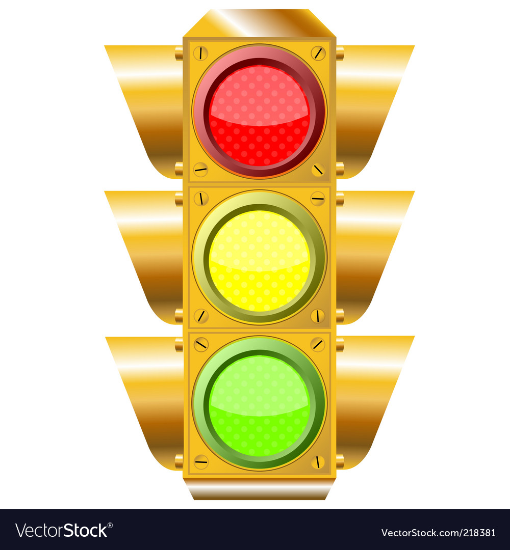 Cross road traffic lights vector | Price: 3 Credit (USD $3)