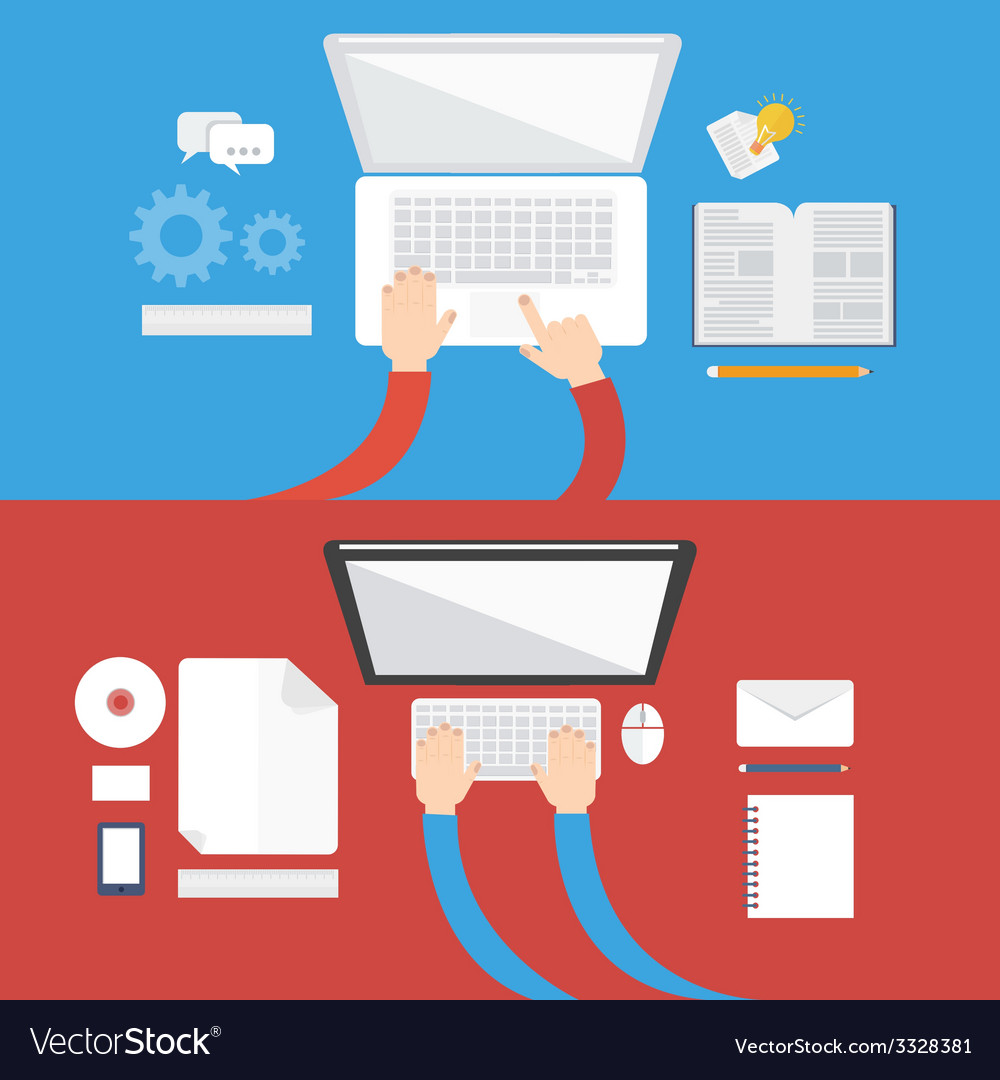 Element of computer concept icon in flat design vector | Price: 1 Credit (USD $1)