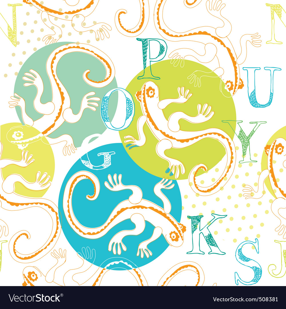 Lizard and alphabets vector | Price: 1 Credit (USD $1)