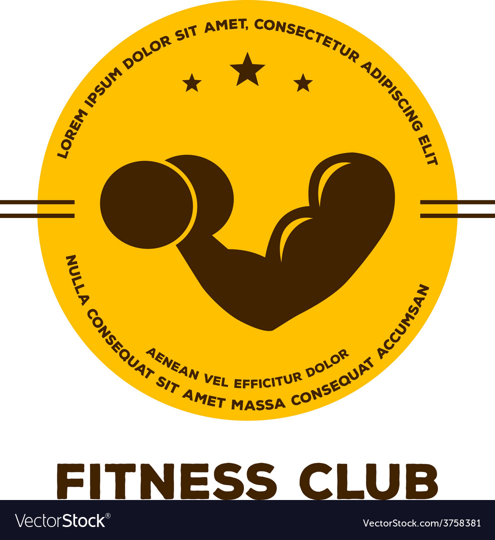 Logo for fitness club vector | Price: 1 Credit (USD $1)