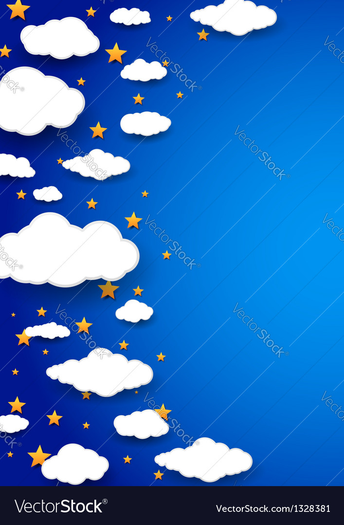 Night peaceful sky - abstract background vector | Price: 1 Credit (USD $1)