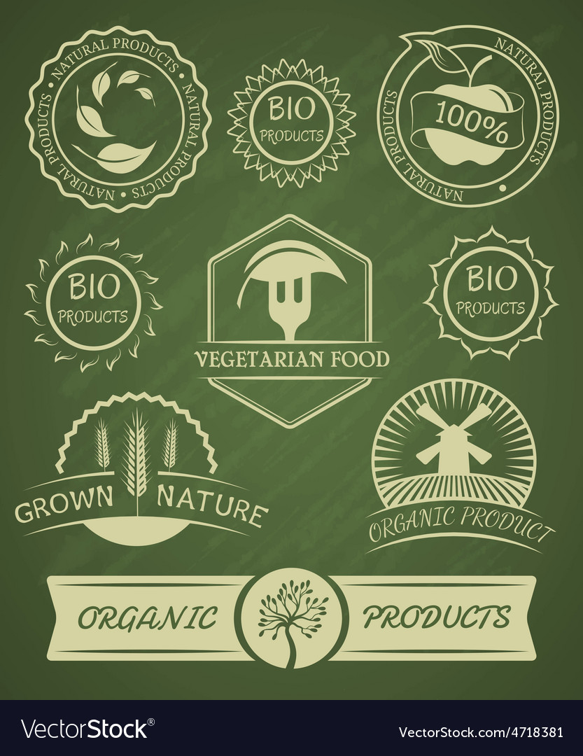 Set of organic badges and labels vector | Price: 3 Credit (USD $3)