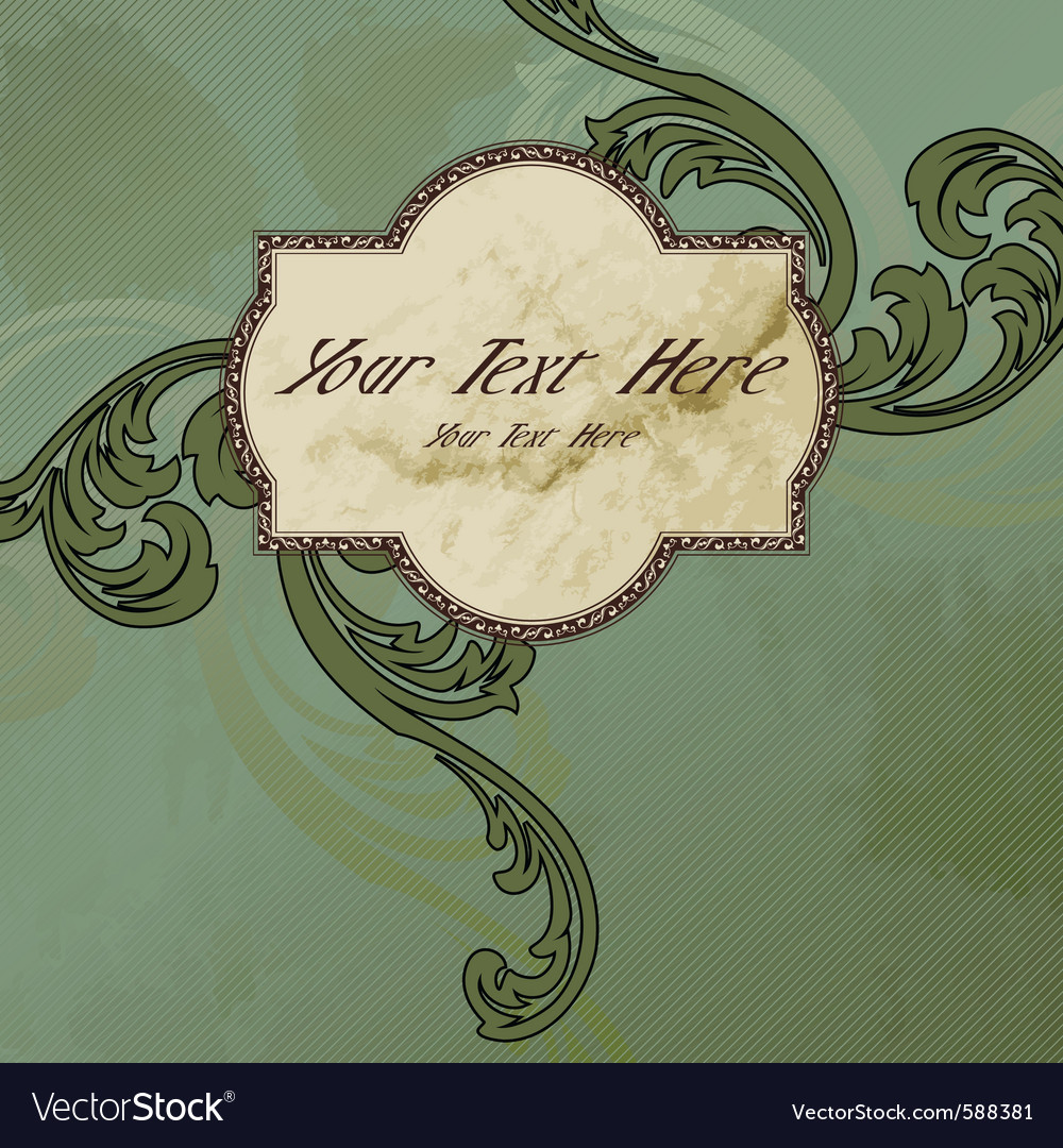 Victorian vintage label vector | Price: 1 Credit (USD $1)