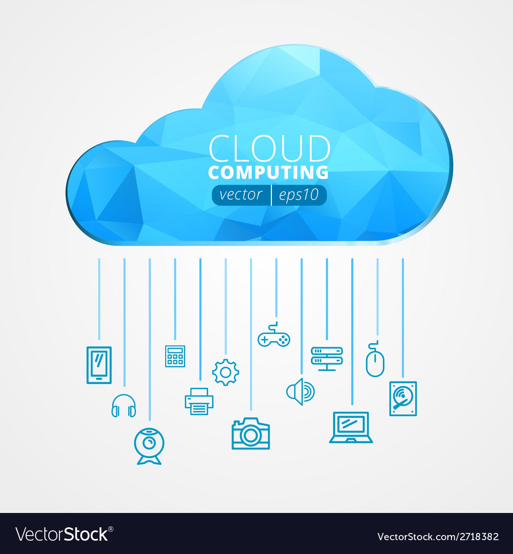 Abstract cloud and social media network icons vector | Price: 1 Credit (USD $1)